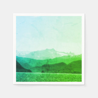 Guardanapo verde das montanhas
