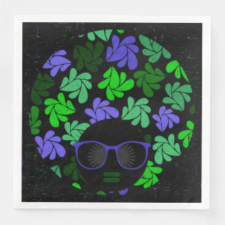 Guardanapo verdes & azuis da diva do Afro