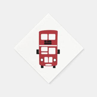 Guardanapo vermelho do cocktail do ônibus do