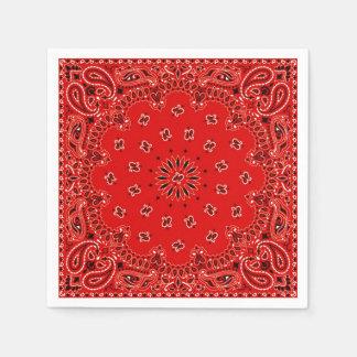 Guardanapo vermelho do piquenique do CHURRASCO do