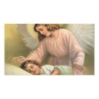 Guardando o anjo das crianças, vintage, reprodução cartão de visita