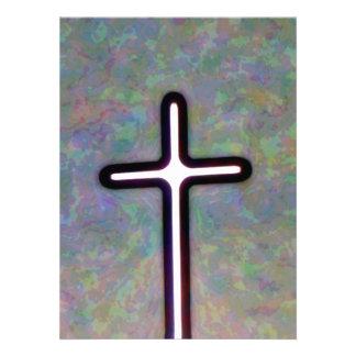 Guardare a luz dentro da cruz convite 13.97 x 19.05cm