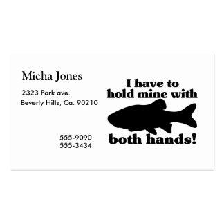 Guardare meus peixes com ambas as mãos cartão de visita