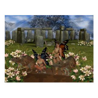 Guardiães de Avalon, entrada de Stonehendge Cartão Postal