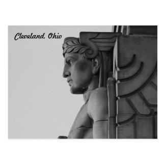 Guardião da ponte de Cleveland OH (B & W) cartão
