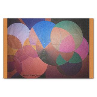 Guarnição abstrata da laranja do lenço de papel