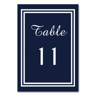 Guarnição dobro do marinho - cartão da mesa