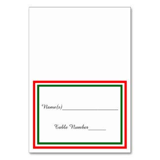Guarnição dobro do Natal - cartão da escolta