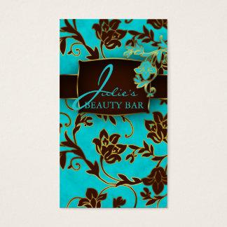 Guarnição floral do ouro dos cartões de visitas da