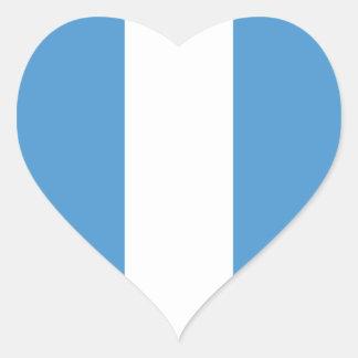 Guatemala/bandeira (civil) guatemalteca do coração adesivo coração