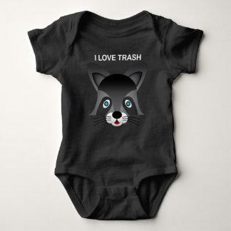 Guaxinim - Bodysuit do jérsei do bebê T-shirts