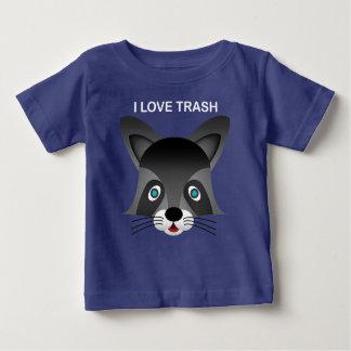 Guaxinim - t-shirt fino do jérsei do bebê