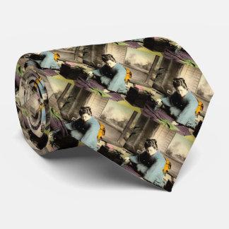 Gueixa que prepara o vintage de seda Japão velho Gravata