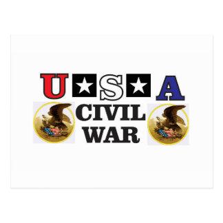 guerra civil branca e azul vermelha cartão postal
