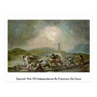Guerra da independência espanhola por Francisco De Cartoes Postais