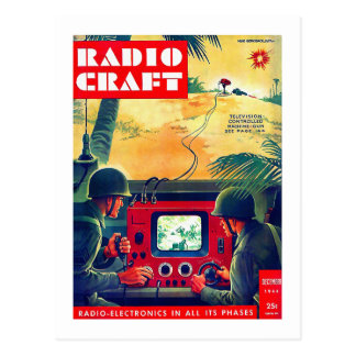 Guerra de rádio militar da tevê do artesanato do cartão postal