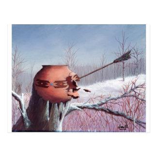 Guerra do inverno cartão postal