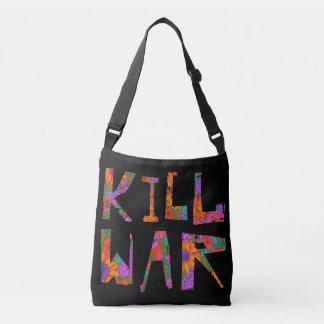 Guerra do matar (flower power) bolsa ajustável