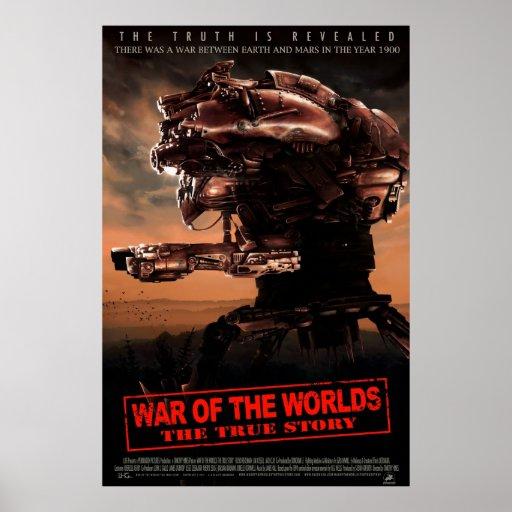 Guerra dos mundos o cartaz cinematográfico verdade poster