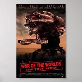 Guerra dos mundos o cartaz cinematográfico verdade posters