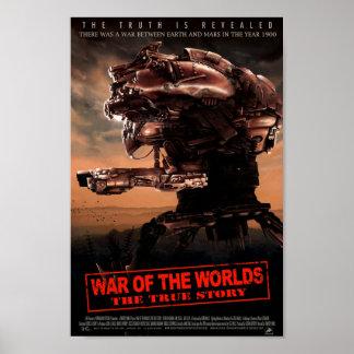 Guerra dos mundos o cartaz cinematográfico verdade impressão