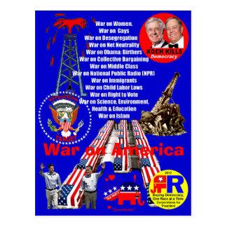 Guerra em América - cartão