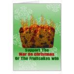Guerra em Fruitcakes Cartão Comemorativo