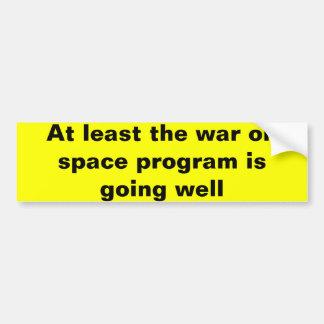Guerra no programa especial adesivo