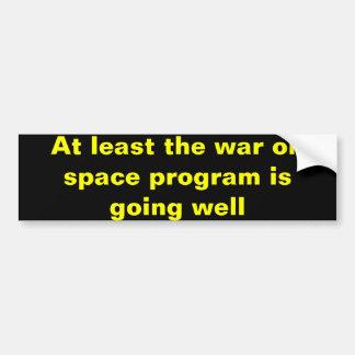 Guerra no programa especial adesivo para carro