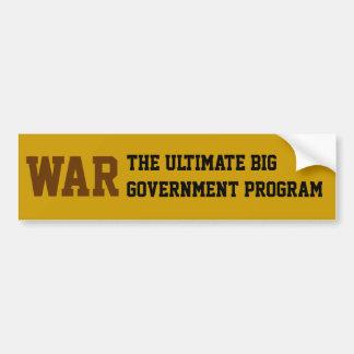 Guerra: O programa governamental grande final Adesivo Para Carro