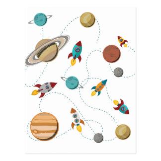 Guerras da lua da aterragem do espaço de Wellcoda Cartão Postal