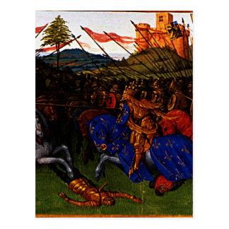 Guerras de Charlemagne por Jean Fouquet Cartão Postal