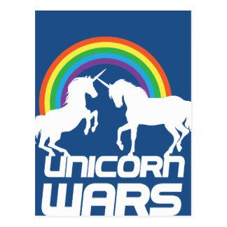 Guerras do unicórnio com o arco-íris cartão postal