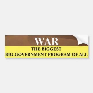 Guerreia o programa governamental grande o mais adesivo para carro