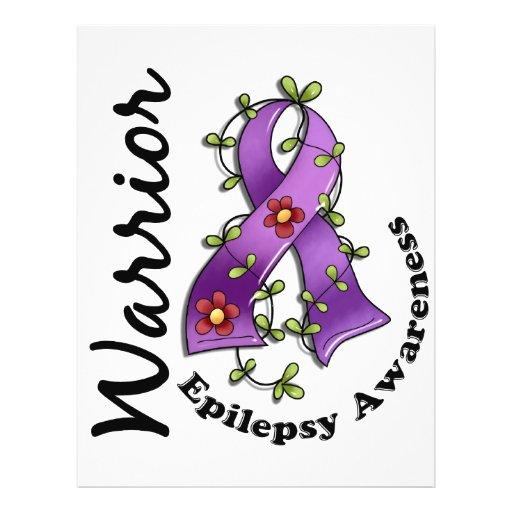 Guerreiro 15 da epilepsia panfleto coloridos