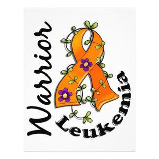 Guerreiro 15 da leucemia panfleto personalizado