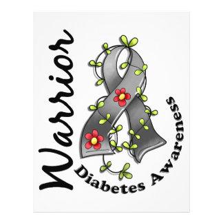 Guerreiro 15 do diabetes panfleto personalizado