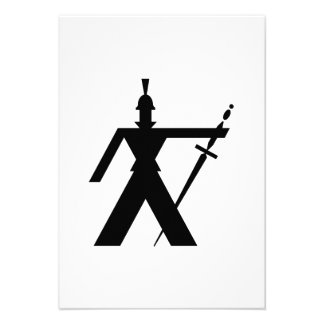 Guerreiro antigo com espada convite personalizado