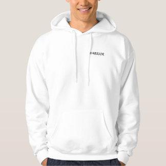 Guerreiro com o hoodie da mantilha e do protetor moletom