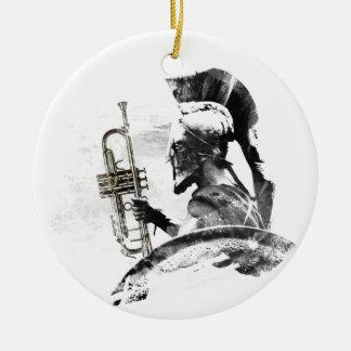 Guerreiro da trombeta ornamento de cerâmica