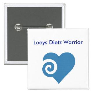 Guerreiro de Loeys Dietz Bóton Quadrado 5.08cm