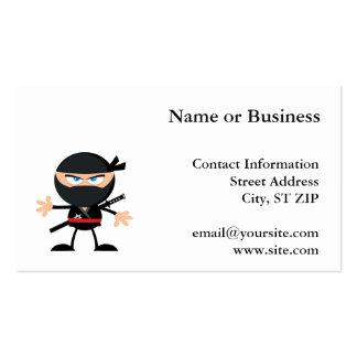 Guerreiro de Ninja dos desenhos animados Cartão De Visita