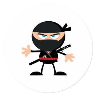 Guerreiro de Ninja dos desenhos animados Convites
