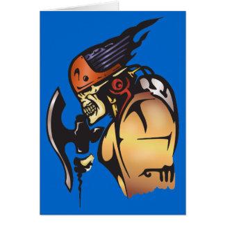 Guerreiro do crânio do Cyborg da banda desenhada Cartão De Nota
