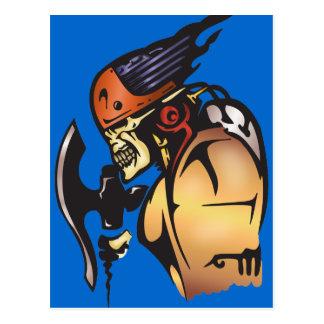 Guerreiro do crânio do Cyborg da banda desenhada Cartão Postal