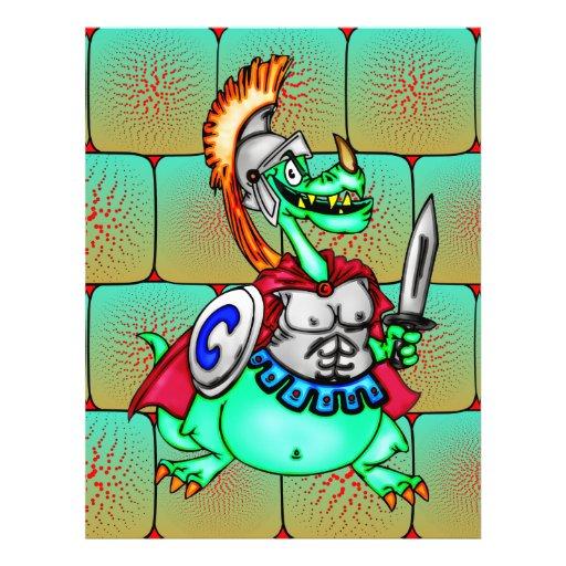 Guerreiro do dragão panfleto personalizado