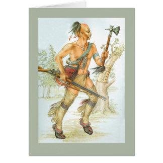 Guerreiro do Mohawk Cartão Comemorativo