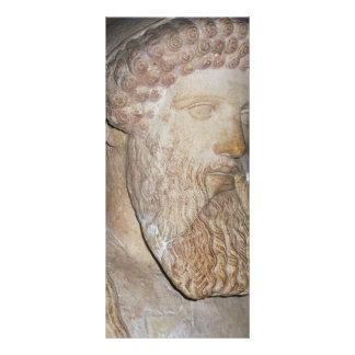 Guerreiro espartano do grego clássico 10.16 x 22.86cm panfleto