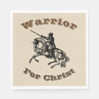 Guerreiro masculino para guardanapo do cristo