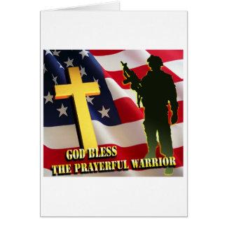 Guerreiro Prayerful Cartão Comemorativo